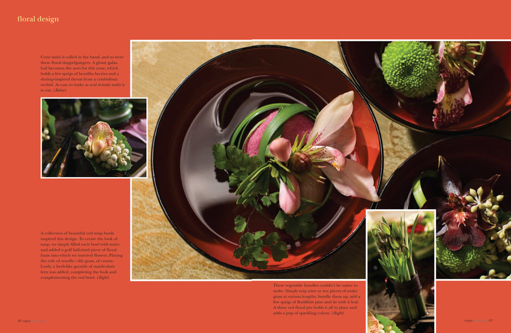 Art Direction  for article: Carmen D. Hrynchuk  /  Floral Design Lisa Alary